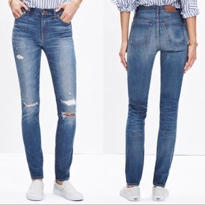 """Madewell 9"""" High Rise Skinny Jean in Rip Repair"""